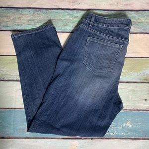 Lane Bryant Jeans High Waisted Distressed Denim
